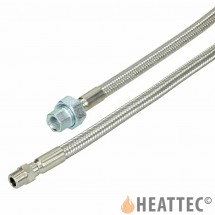 Flexible Gas Hose Stainless Steel 3/8""